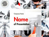 Careers/Industry: Plumbing Services PowerPoint Template #11618