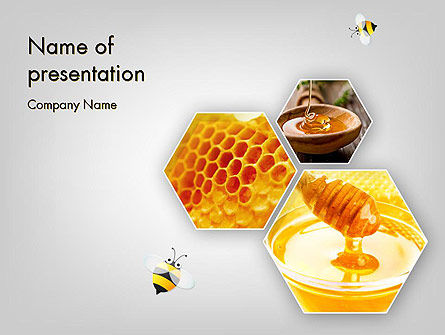 Honey Production PowerPoint Template, 11619, Food & Beverage — PoweredTemplate.com