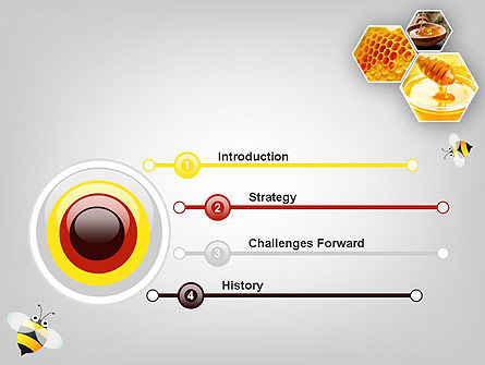 Honey Production PowerPoint Template, Slide 3, 11619, Food & Beverage — PoweredTemplate.com