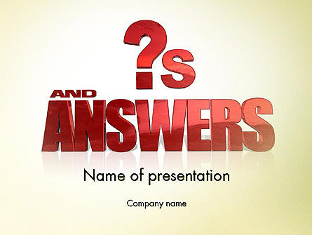 Red Questions and Answers PowerPoint Template