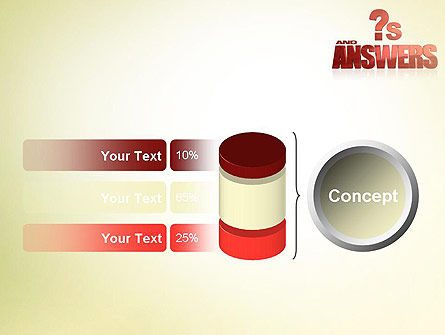 Red Questions and Answers PowerPoint Template Slide 11