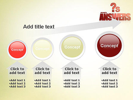Red Questions and Answers PowerPoint Template Slide 13