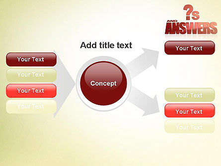 Red Questions and Answers PowerPoint Template Slide 14
