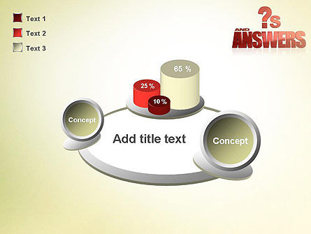 Red Questions and Answers PowerPoint Template Slide 16