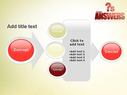 Red Questions and Answers PowerPoint Template Slide 17
