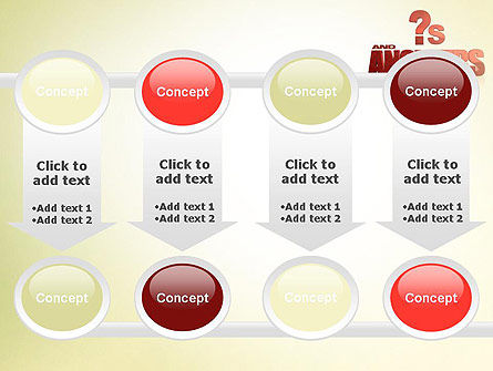 Red Questions and Answers PowerPoint Template Slide 18