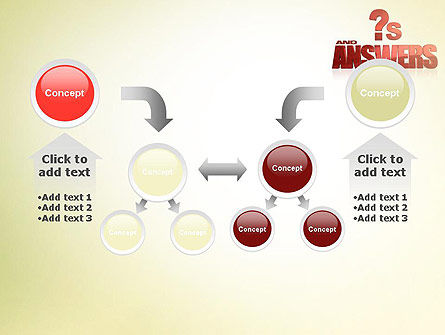 Red Questions and Answers PowerPoint Template Slide 19