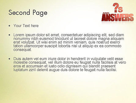 Red Questions and Answers PowerPoint Template Slide 2