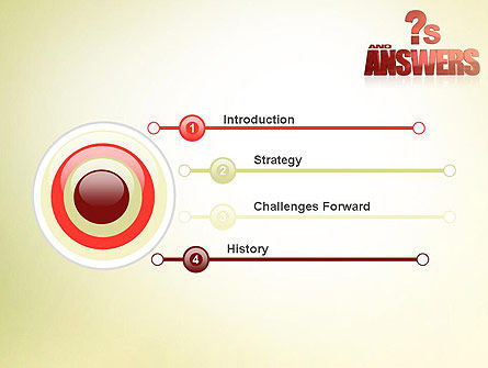 Red Questions and Answers PowerPoint Template Slide 3