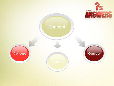 Red Questions and Answers PowerPoint Template Slide 4
