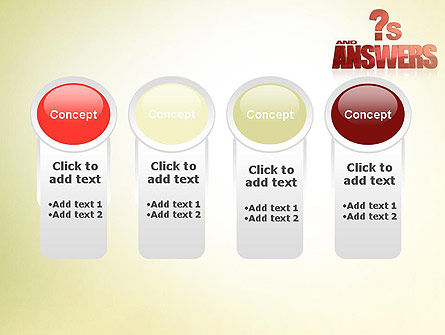 Red Questions and Answers PowerPoint Template Slide 5
