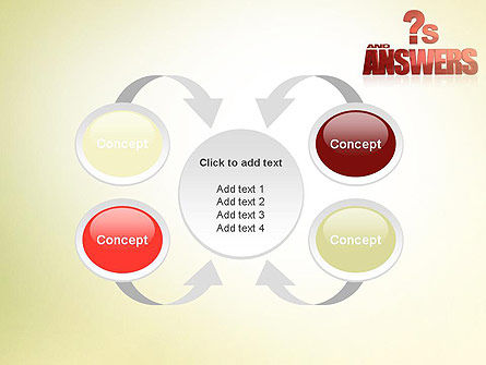 Red Questions and Answers PowerPoint Template Slide 6