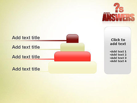 Red Questions and Answers PowerPoint Template Slide 8