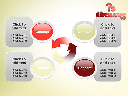 Red Questions and Answers PowerPoint Template Slide 9