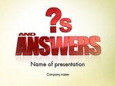 Careers/Industry: Red Vragen En Antwoorden PowerPoint Template #11621