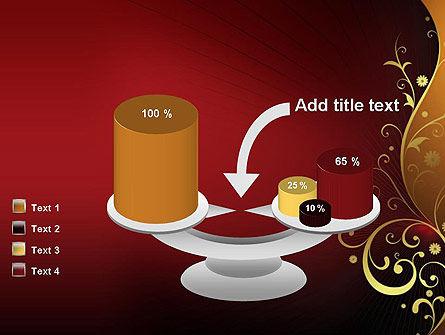 Golden Pattern with Swirls PowerPoint Template Slide 10