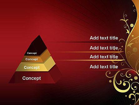 Golden Pattern with Swirls PowerPoint Template Slide 12