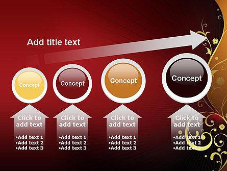 Golden Pattern with Swirls PowerPoint Template Slide 13