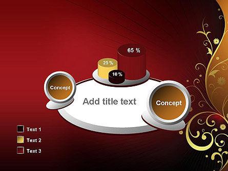 Golden Pattern with Swirls PowerPoint Template Slide 16