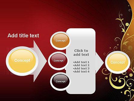 Golden Pattern with Swirls PowerPoint Template Slide 17