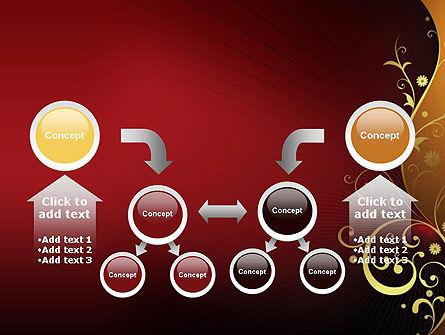 Golden Pattern with Swirls PowerPoint Template Slide 19
