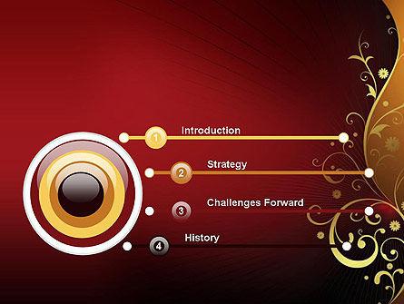 Golden Pattern with Swirls PowerPoint Template Slide 3