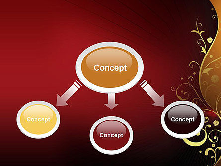 Golden Pattern with Swirls PowerPoint Template, Slide 4, 11623, Abstract/Textures — PoweredTemplate.com