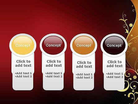 Golden Pattern with Swirls PowerPoint Template Slide 5