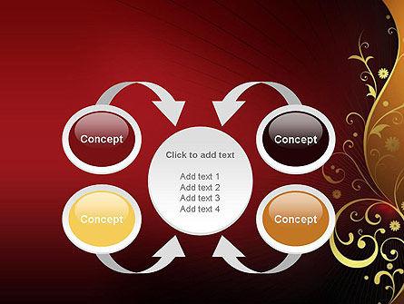 Golden Pattern with Swirls PowerPoint Template Slide 6