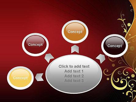 Golden Pattern with Swirls PowerPoint Template Slide 7