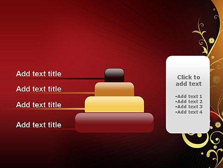 Golden Pattern with Swirls PowerPoint Template Slide 8