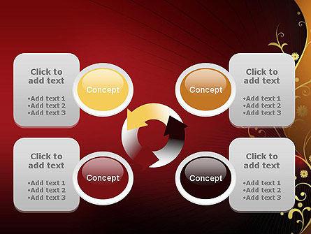 Golden Pattern with Swirls PowerPoint Template Slide 9