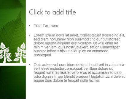 Tree Leaves PowerPoint Template, Slide 3, 11625, Nature & Environment — PoweredTemplate.com