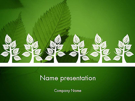 Tree Leaves PowerPoint Template, 11625, Nature & Environment — PoweredTemplate.com