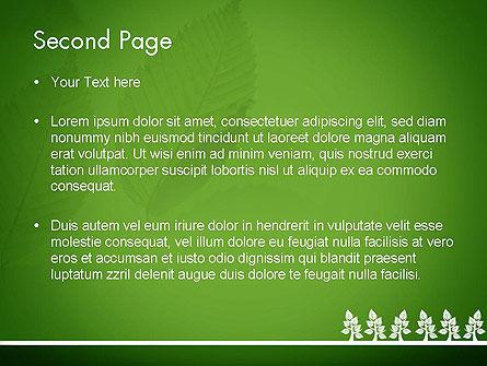 Tree Leaves PowerPoint Template, Slide 2, 11625, Nature & Environment — PoweredTemplate.com