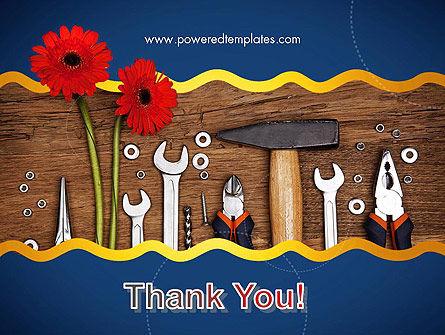 Flowers and Repair Tools PowerPoint Template Slide 20