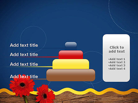 Flowers and Repair Tools PowerPoint Template Slide 8