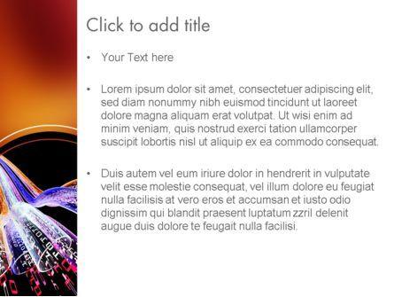 Dataflow PowerPoint Template, Slide 3, 11629, Technology and Science — PoweredTemplate.com