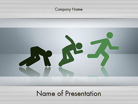 Business Concepts: Hit the Ground Running PowerPoint Template #11630