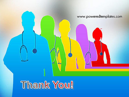 Medical Team Silhouettes PowerPoint Template Slide 20