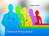 Medical: Medical Team Silhouettes PowerPoint Template #11635