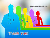 Medical Team Silhouettes PowerPoint Template#20