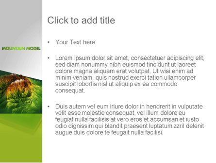 Mountain Model PowerPoint Template, Slide 3, 11636, Nature & Environment — PoweredTemplate.com