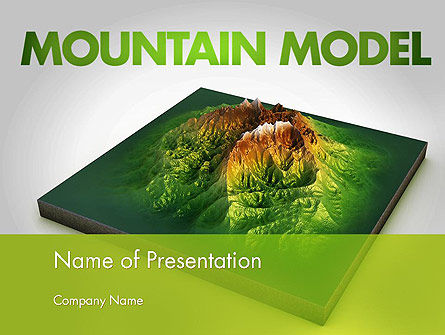 Mountain Model PowerPoint Template, 11636, Nature & Environment — PoweredTemplate.com