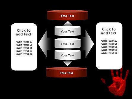 Blood Hand PowerPoint Template Slide 13