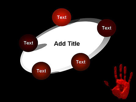 Blood Hand PowerPoint Template Slide 14