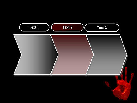 Blood Hand PowerPoint Template Slide 16