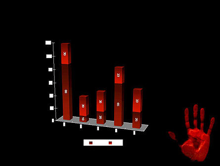 Blood Hand PowerPoint Template Slide 17