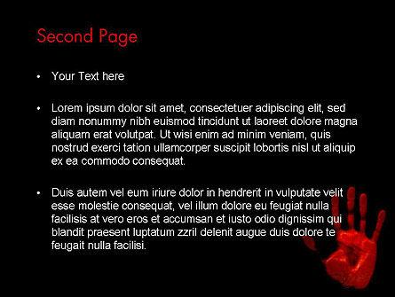 Blood Hand PowerPoint Template, Slide 2, 11640, Legal — PoweredTemplate.com