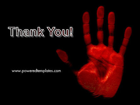 Blood Hand PowerPoint Template Slide 20